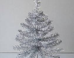tinsel tree etsy