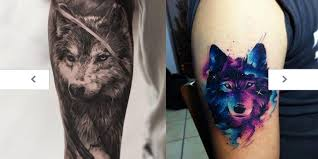 tattoos com powerful wolf tattoos
