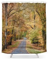 society6 autumn passage 2 fall landscape shower curtain