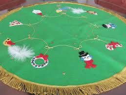 vintage christmas tree skirt 1960 u0027s bucilla felt tree