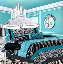 Blue Bedroom Sets For Girls Teen Girls Black Teal Bedding Comforter Damask Leopard Full Queen