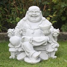 granite money sitting buddha statue garden ornament s s shop