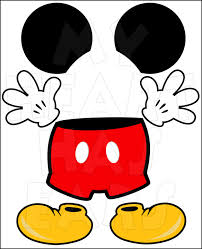mickey mouse body parts for state room disney cruise door instant
