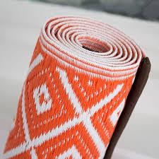 Outdoor Plastic Rugs Aztec Outdoor Rug In Orange White Geometic Garden Mat
