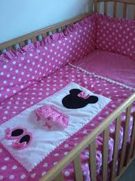 Mickey And Minnie Crib Bedding Minnie Mouse Pretty In Pink 6 Nursery Set 325 00 Via Etsy