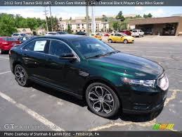 Sho Green green gem metallic 2013 ford taurus sho awd sho charcoal black