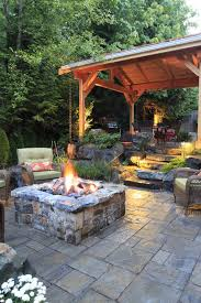 pavers patio under deck firepit patio rustic with patio