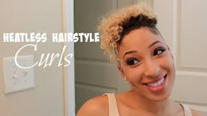 no heat hairstyle curls shaved sides and back youtube