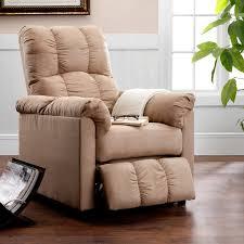 dorel living slim microfiber recliner beige hayneedle