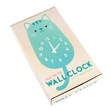 Wooden Wall Clock Cookie The Cat Wooden Wall Clock Dotcomgiftshop