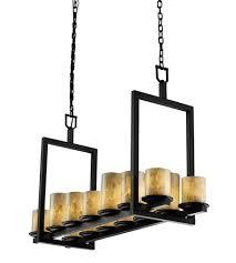 Black Chandelier Lamps Justice Design Alr 8769 10 Mblk Alabaster Rocks 14 Light 13 Inch