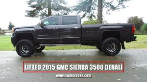 lifted gmc dually lifted 2015 gmc sierra 3500 denali youtube