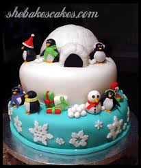 love this alternative to a traditional christmas cake design