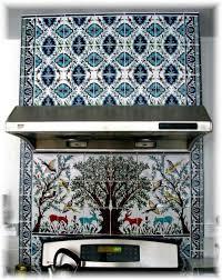 kitchen black white and grey backsplash tile mural still life