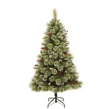 6ft cone and berry snow tipped artificial tree at