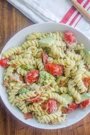 pasta salda bacon tomato avocado pasta salad life u0027s ambrosia