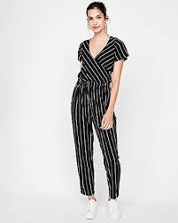 cotton jumpsuit striped tie front cotton jumpsuit express
