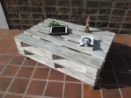 Pallet Coffee Tables Distressed White Pallet Coffee Table