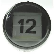 clock black and white desk mechanical calendar