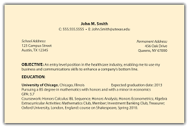 An Example Of Resume by Objectives Neat Consider Using One Of The Below Good Resume