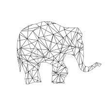 poly coloring elephant stock photo image 78413405