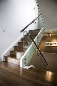 anodized aluminium railings for stair case glass partition windows
