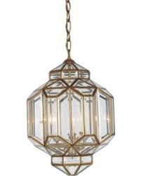 amazing deal on modern faceted glass shade copper pendant light