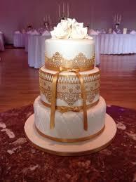 gold lace wedding cake cake by cacalicious cakesdecor