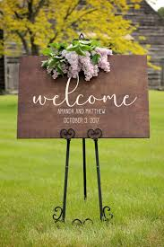 personalized wood wedding signs wedding welcome sign lovely