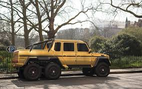 mercedes 6x6 truck flashy fleet saudi sheikh shows golden mercedes g63 amg 6x6