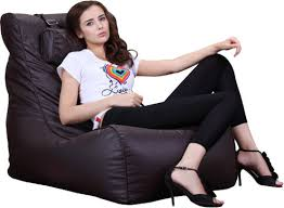 Bean Bag Sofas by Xxl Relax Leather Beanbag High Back Head Rest Chair Gamer Gaming
