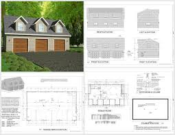 g445 plans 48 u0027x28 u0027 x 10 u0027 detached garage plans with bonus room