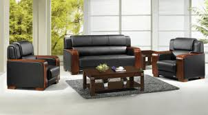 Leather And Wood Sofa Wood Armrest Office Leather Sofa Set Buy Wood Armrest Office