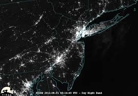 Power Outage Map New York by Viirs Day Night Band Images Showing Areas Of Sandy Related Power