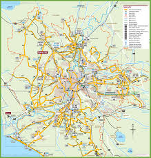 Map Rome Transport Map Of Rome And The Surrounding Area
