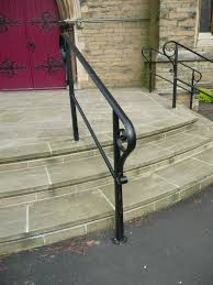 Steel Handrails For Steps Outdoor Handrails In Wrought Iron And Steel Topp And Co