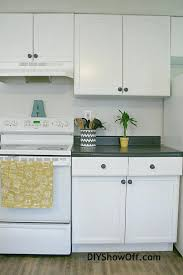 how to update rental kitchen cabinets change rental kitchen cabinets update property white rectangle