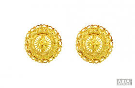 gold earrings tops gold shape tops 22k ajer57147 22k gold shaped