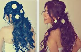 romantic curly homecoming hairstyles updos hair tutorial for