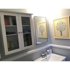 Double Glass Door by Highland White Double Glass Door Wall Cabinet By Essential Home