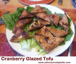 cranberry glazed tofu cranberry sauce