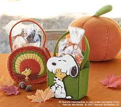 peanuts thanksgiving snoopy treat container pottery barn