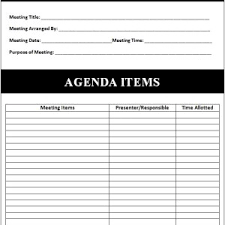 simple and effective meeting agenda template sample helloalive
