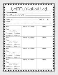 student daily report template best 25 parent communication log ideas on