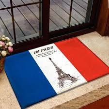 French Flag Eiffel Tower Paris Themed Area Rugs Paris Area Rug French Flag Eiffel Tower