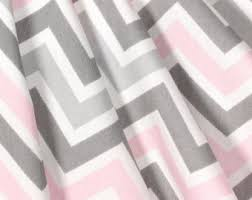 Pink And Grey Nursery Curtains Pink Gray Curtains Etsy