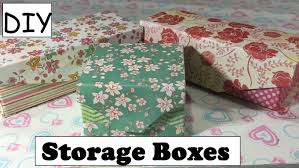 Decorative Cardboard Storage Boxes Home Organization Diy Storage Box Using Empty Box Cartons Desk Organizer 10 Youtube