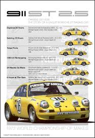 porsche racing poster 1972 toad hall porsche 911 st autosports marketing associates ltd