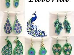 quilling earrings tutorial pdf free download pdf tutorial make your own peacock inspired paper quilled earrings