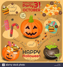 halloween poster symbols and signs of october halloween sweet